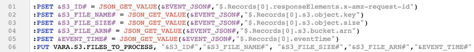 Automic job source code