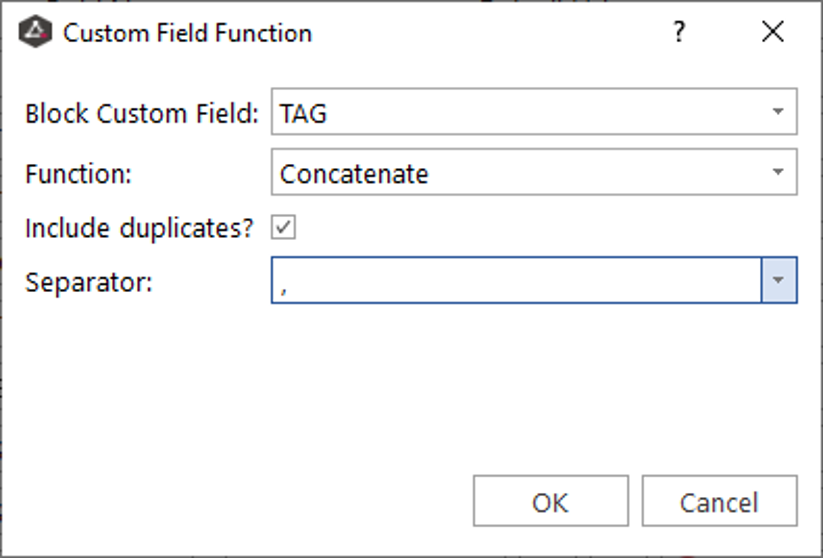 Create a Custom field named TAG and use the Concatenate function to create a list of string values.
