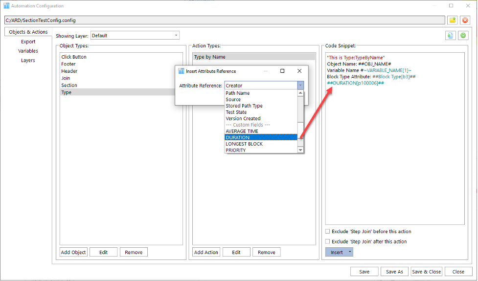 Custom field values can be used in automation snippets.